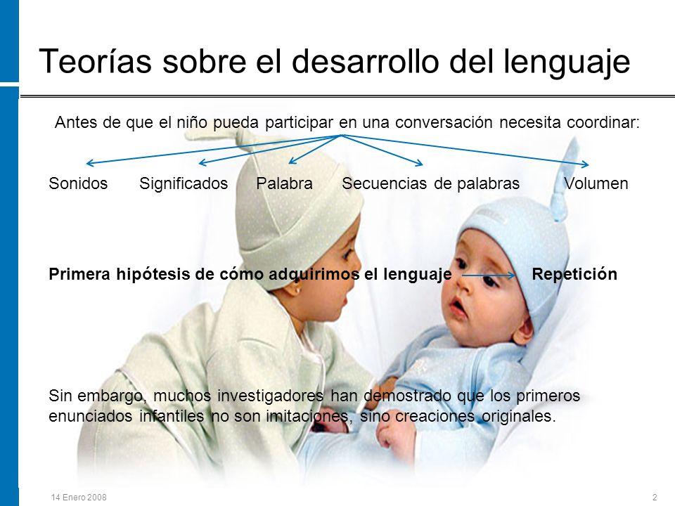 Teorías sobre el desarrollo del lenguaje