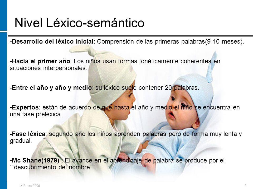 Nivel Léxico-semántico