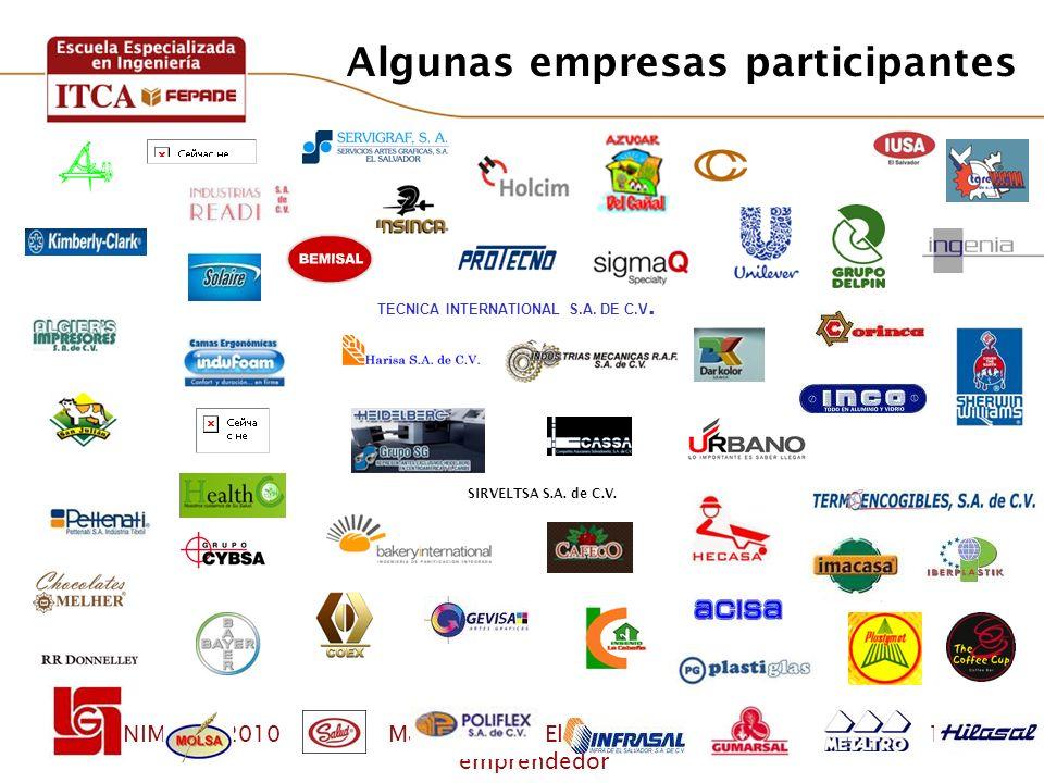 Algunas empresas participantes