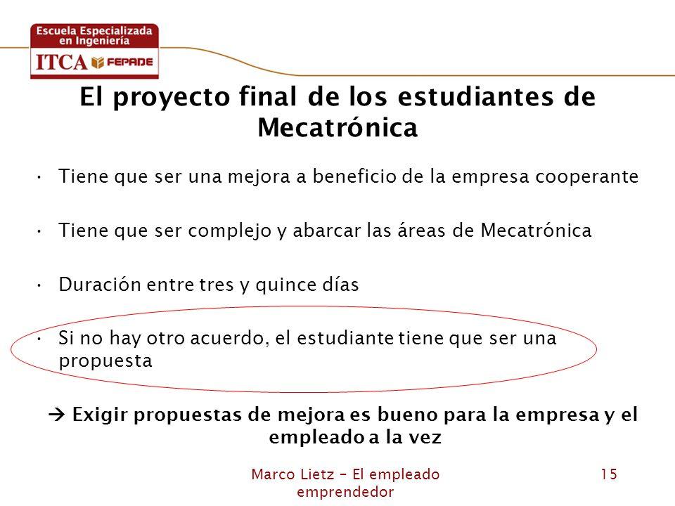 El proyecto final de los estudiantes de Mecatrónica