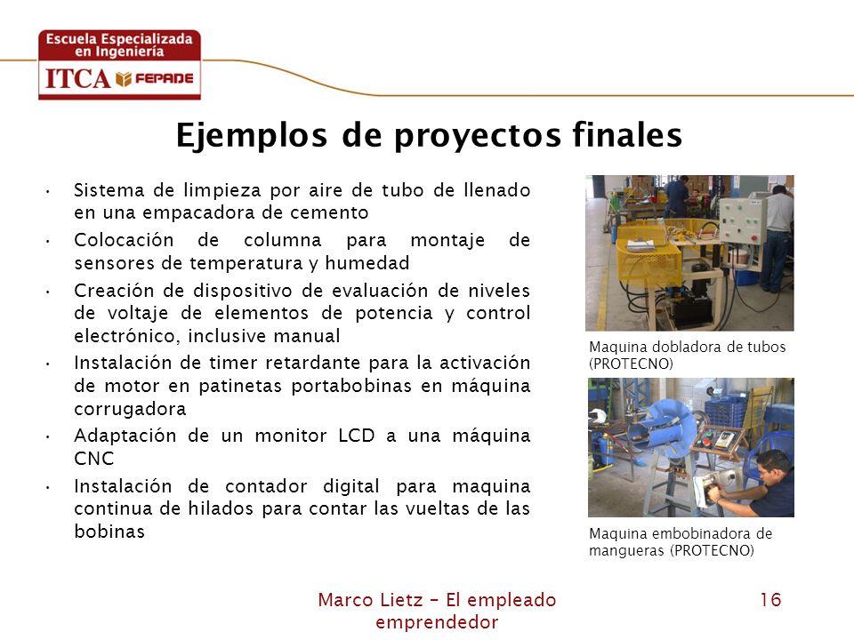 Ejemplos de proyectos finales