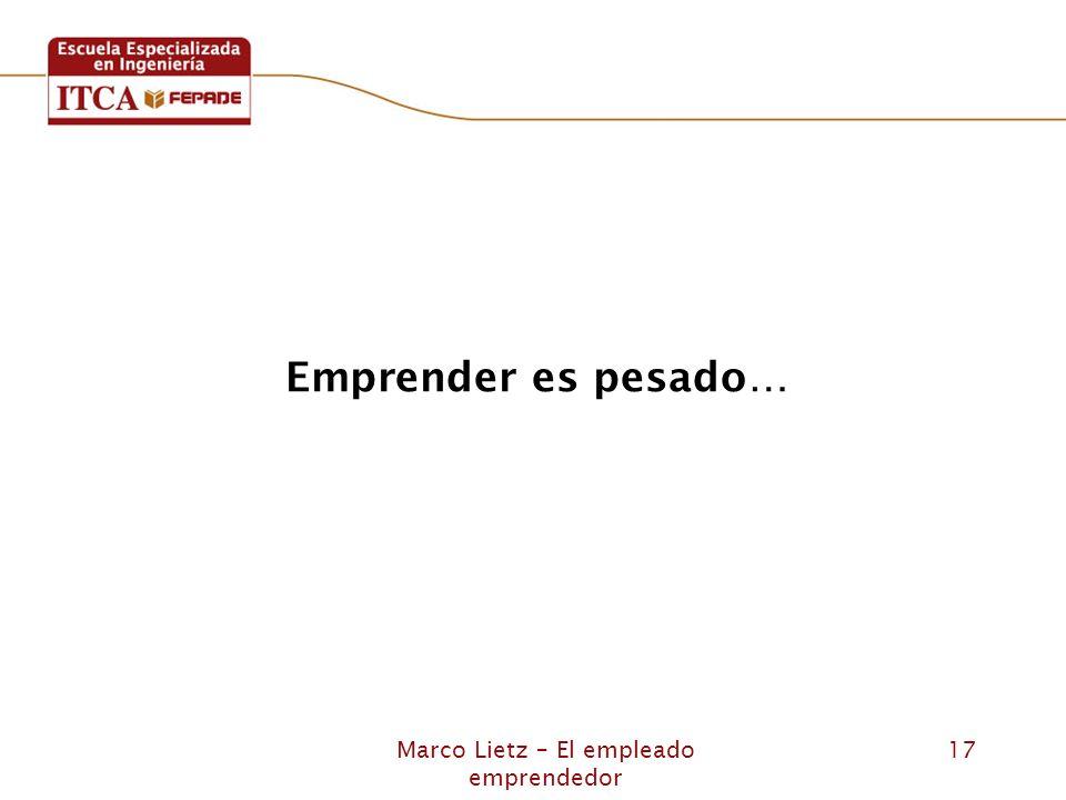 Marco Lietz – El empleado emprendedor