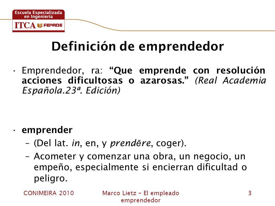 Definición de emprendedor