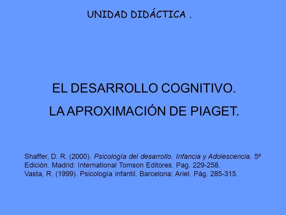 EL DESARROLLO COGNITIVO. LA APROXIMACIÓN DE PIAGET.