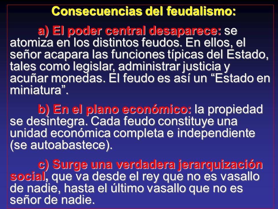 Consecuencias del feudalismo: