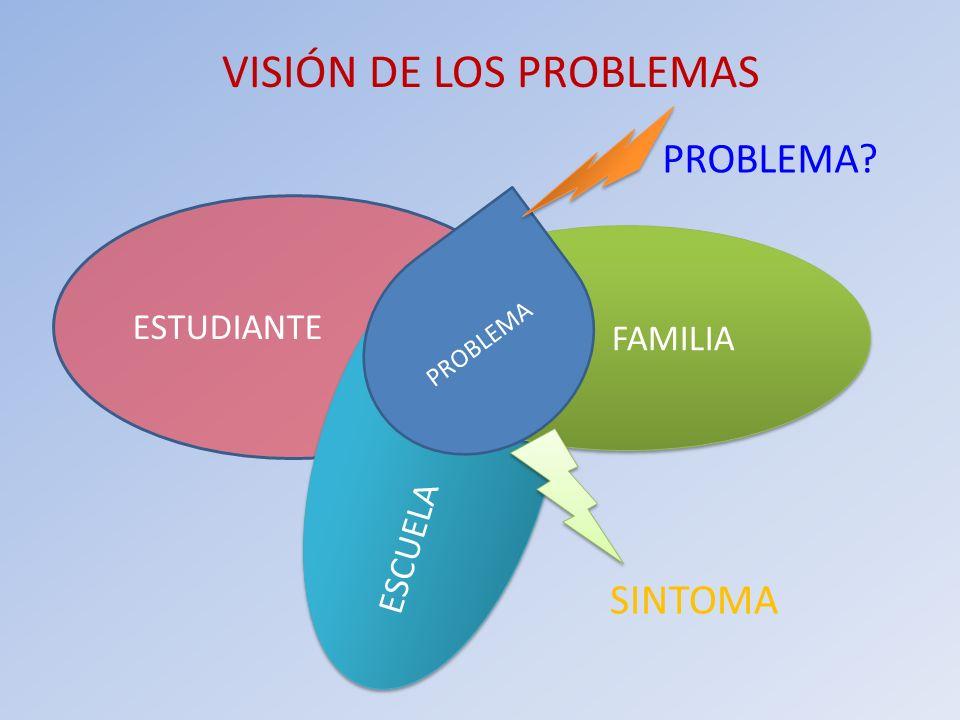VISIÓN DE LOS PROBLEMAS