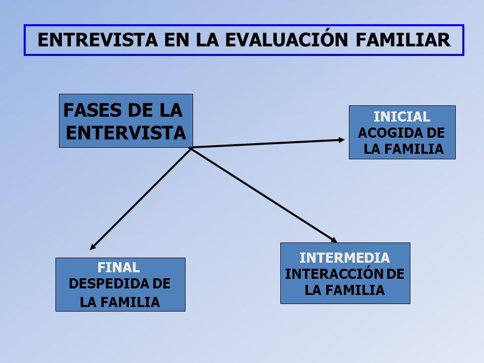 ENTREVISTA EN LA EVALUACIÓN FAMILIAR