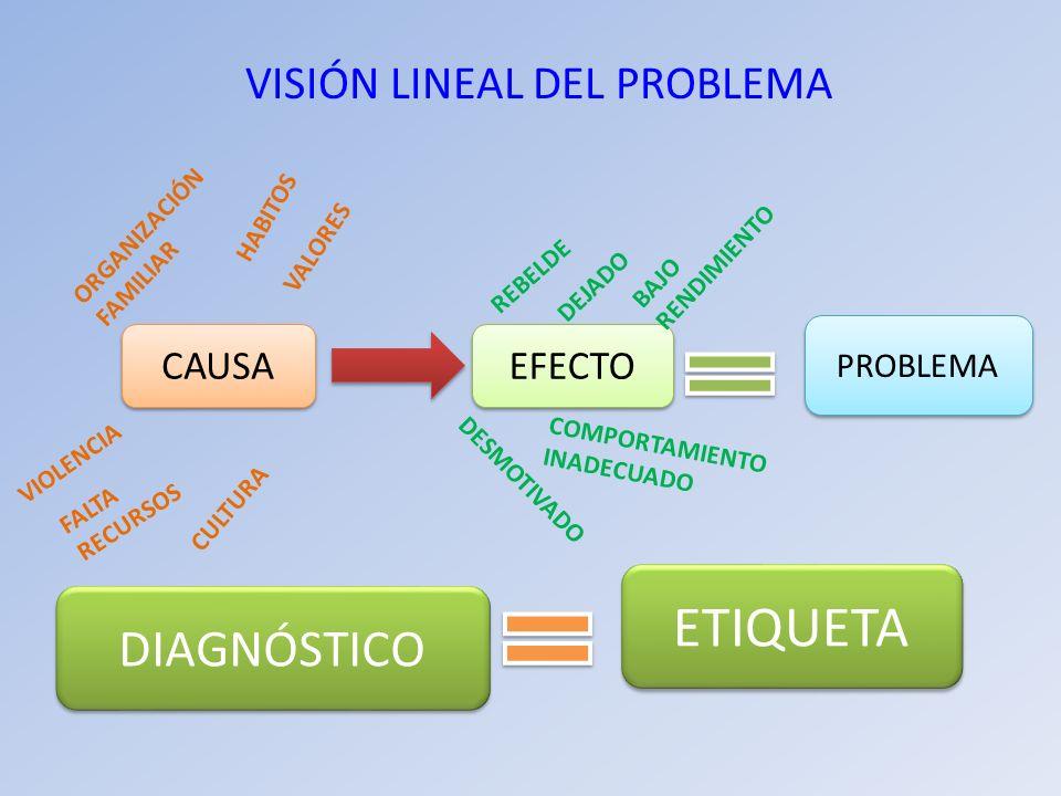 VISIÓN LINEAL DEL PROBLEMA