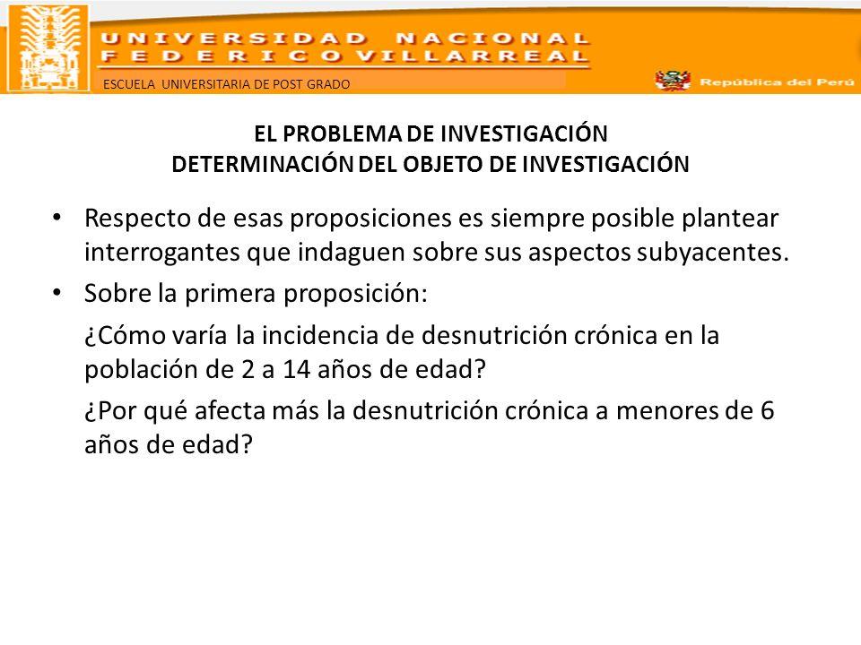 EL PROBLEMA DE INVESTIGACIÓN DETERMINACIÓN DEL OBJETO DE INVESTIGACIÓN