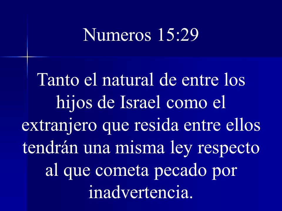 Numeros 15:29