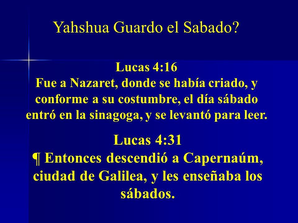 Yahshua Guardo el Sabado
