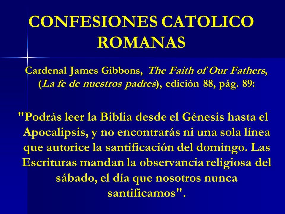 CONFESIONES CATOLICO ROMANAS