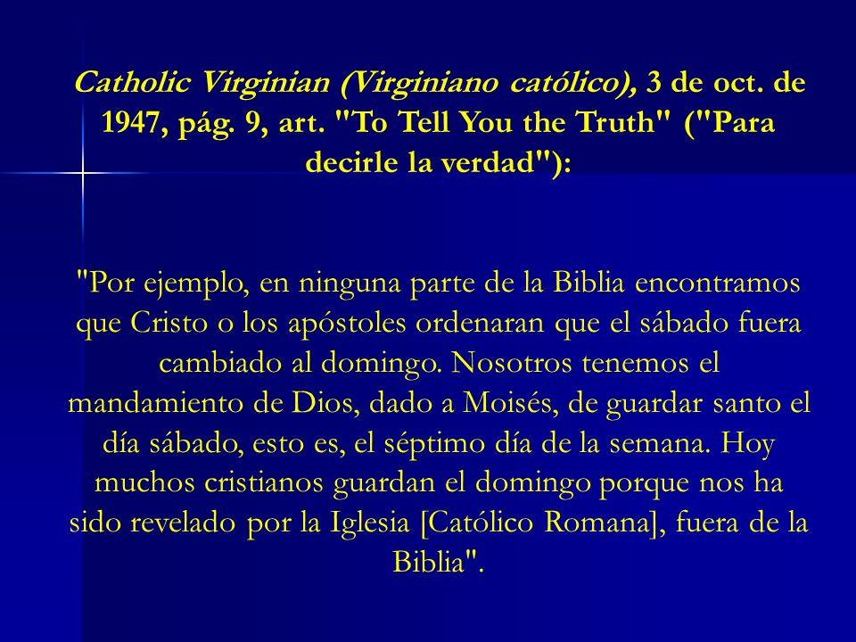 Catholic Virginian (Virginiano católico), 3 de oct. de 1947, pág
