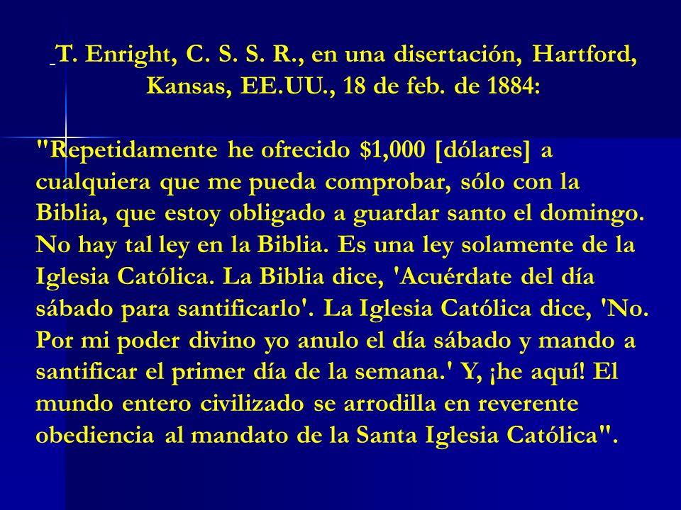 T. Enright, C. S. S. R. , en una disertación, Hartford, Kansas, EE. UU