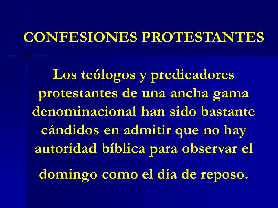 CONFESIONES PROTESTANTES
