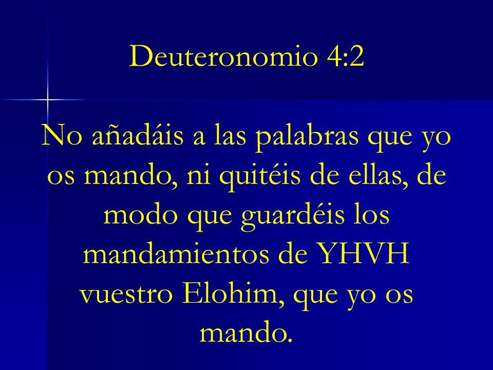 Deuteronomio 4:2