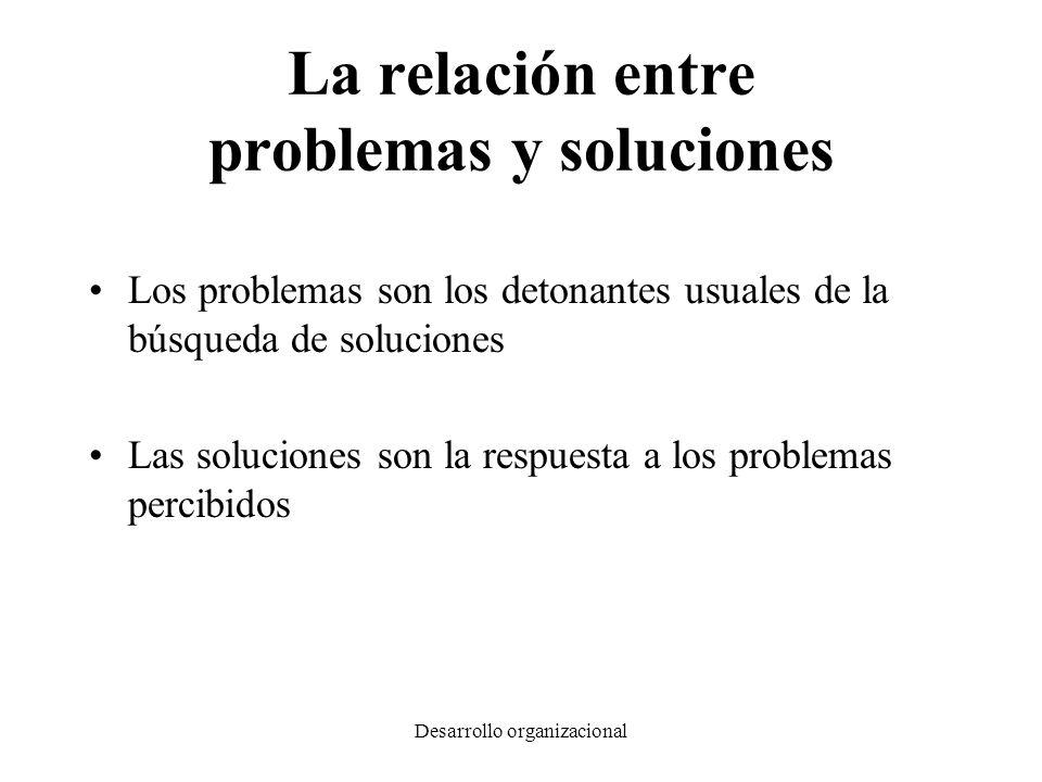 La relación entre problemas y soluciones
