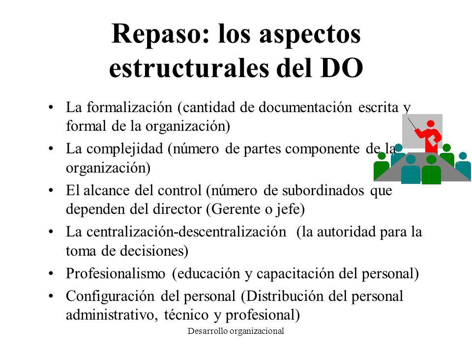 Repaso: los aspectos estructurales del DO
