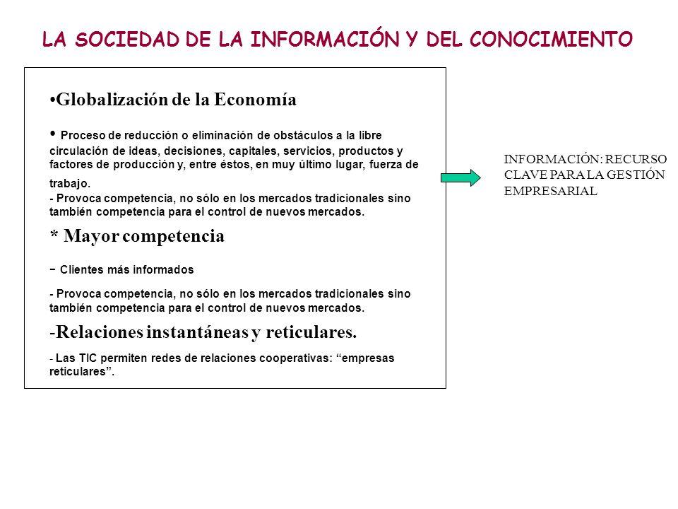 LA SOCIEDAD DE LA INFORMACIÓN Y DEL CONOCIMIENTO