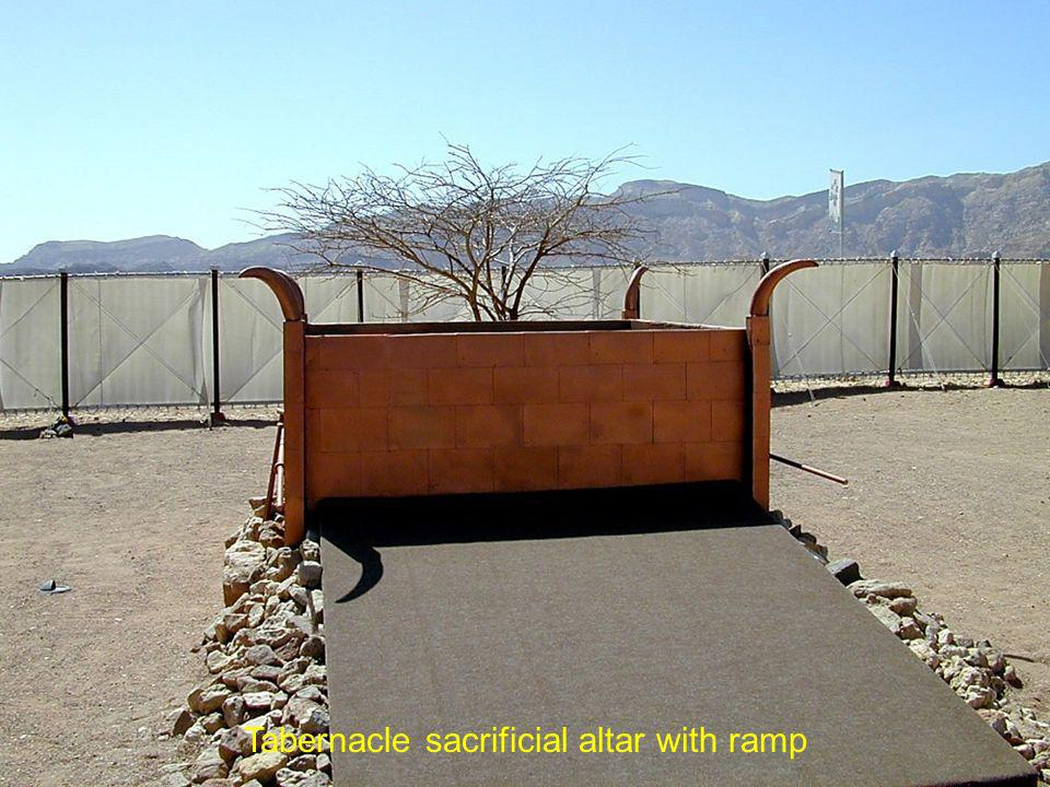 Tabernacle sacrificial altar with ramp