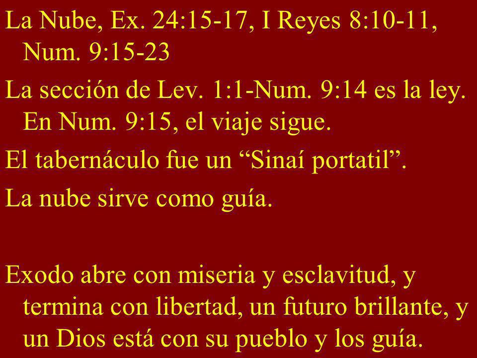 La Nube, Ex. 24:15-17, I Reyes 8:10-11, Num. 9:15-23