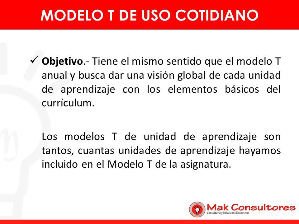 MODELO T DE USO COTIDIANO