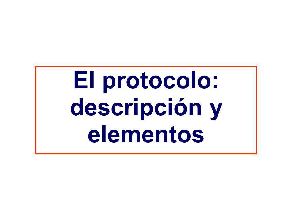 El protocolo: descripción y elementos