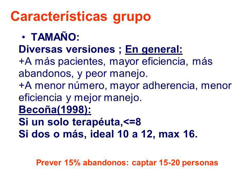 Características grupo