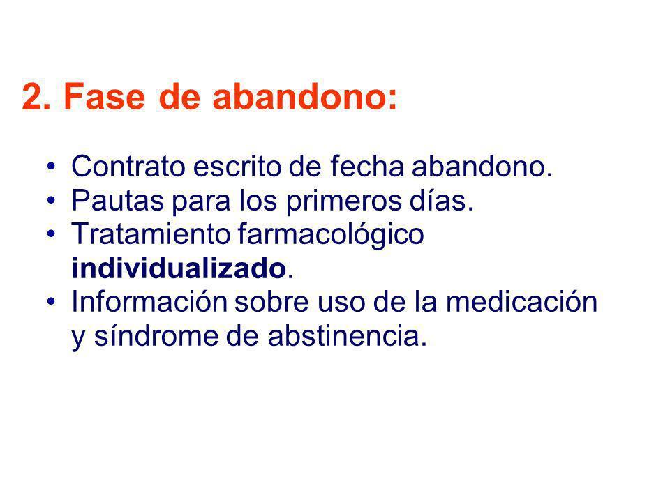 2. Fase de abandono: Contrato escrito de fecha abandono.