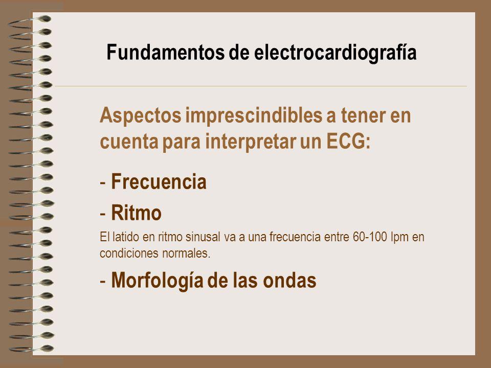 Fundamentos de electrocardiografía