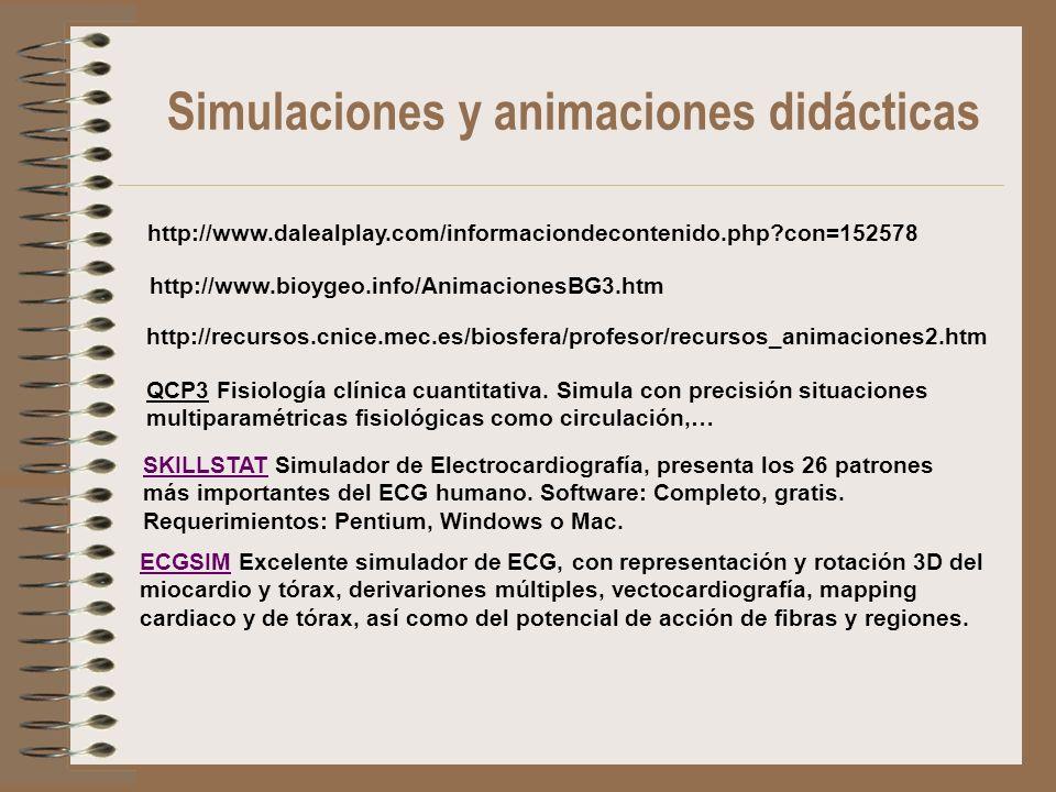 Simulaciones y animaciones didácticas