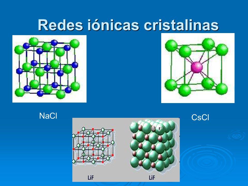 Redes iónicas cristalinas
