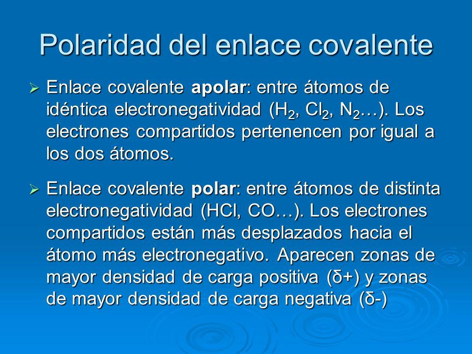 Polaridad del enlace covalente