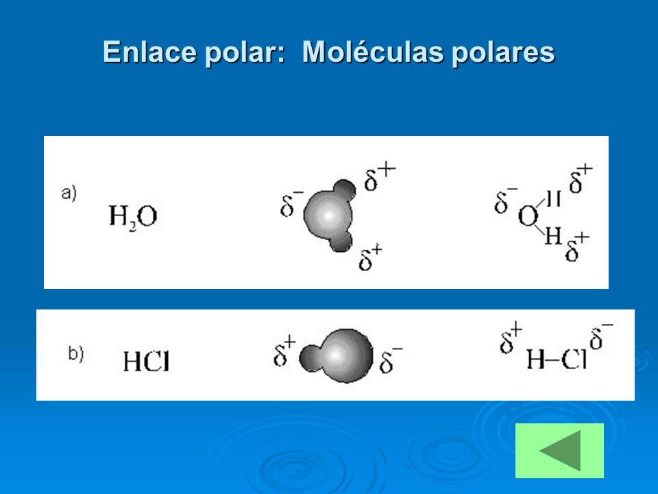 Enlace polar: Moléculas polares
