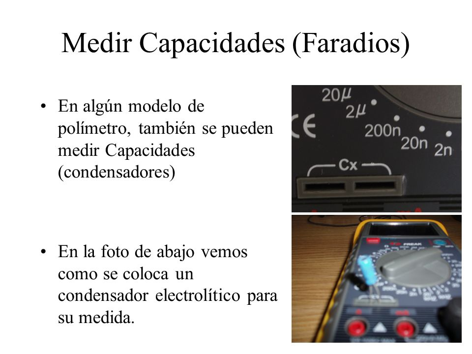 Medir Capacidades (Faradios)