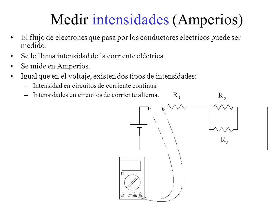 Medir intensidades (Amperios)