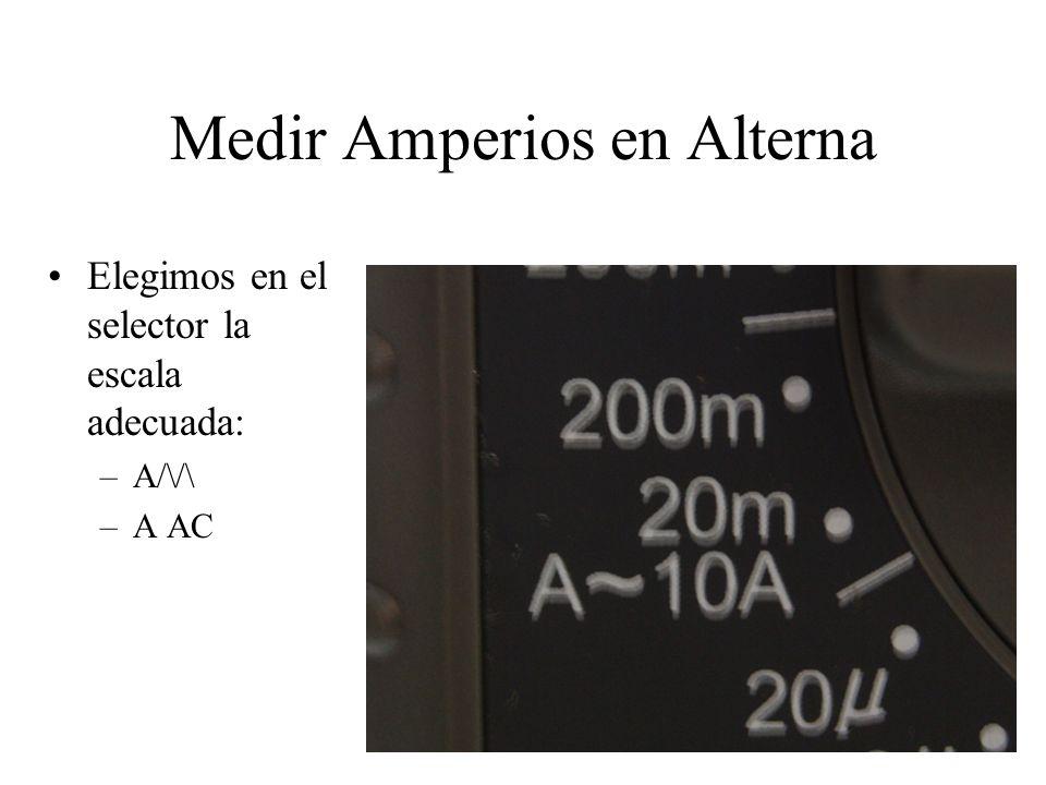 Medir Amperios en Alterna