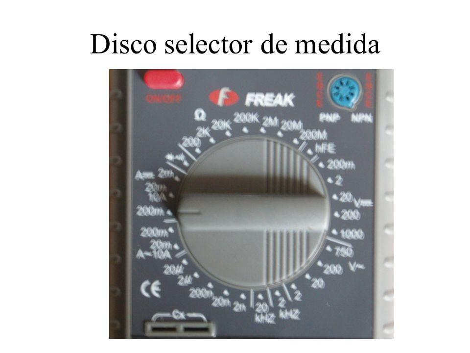 Disco selector de medida