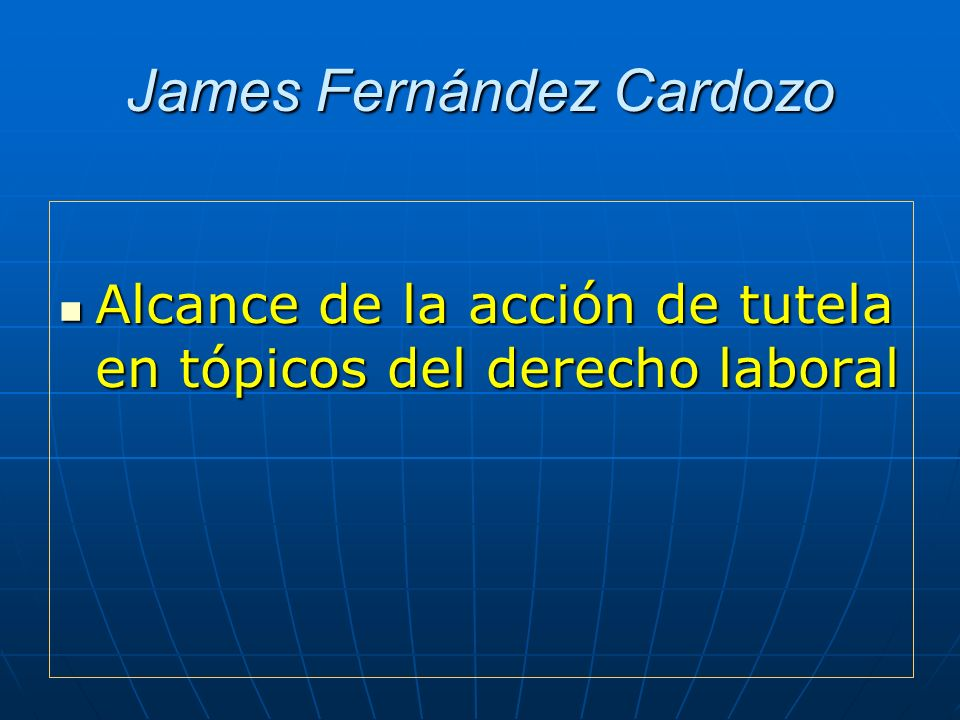 James Fernández Cardozo