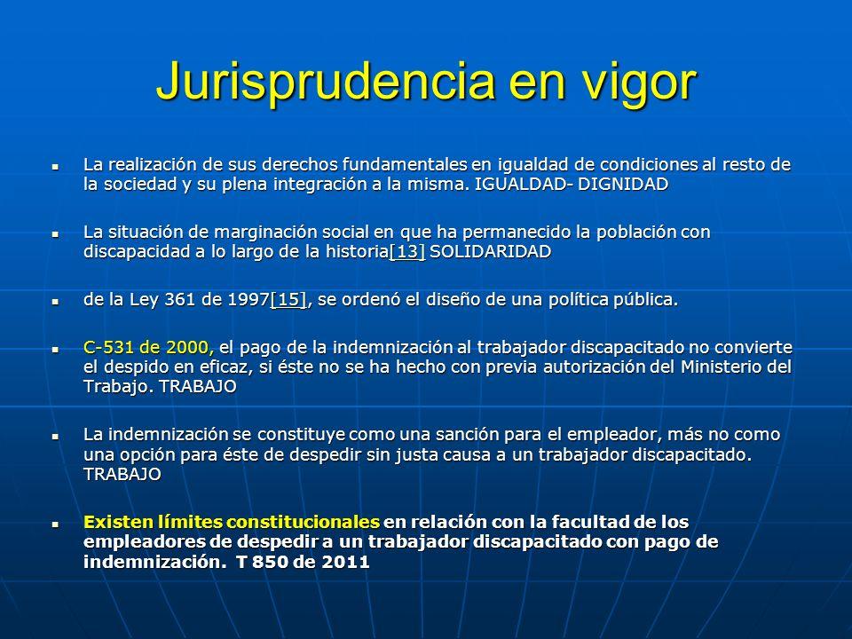 Jurisprudencia en vigor