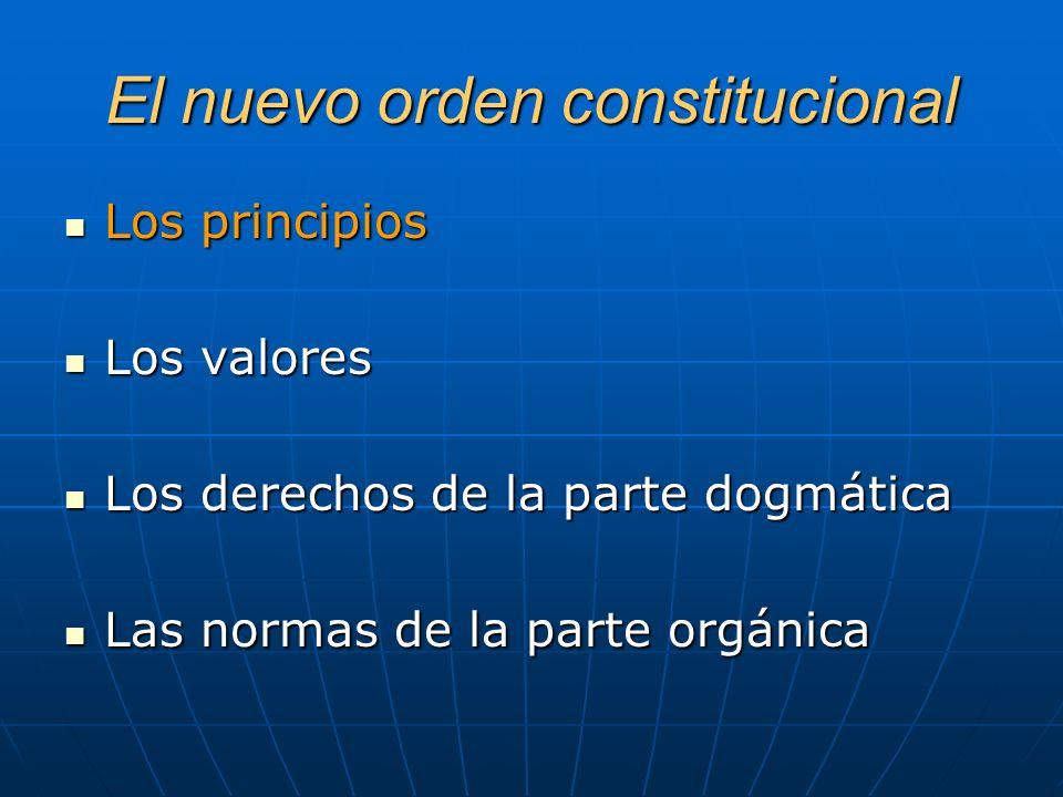 El nuevo orden constitucional