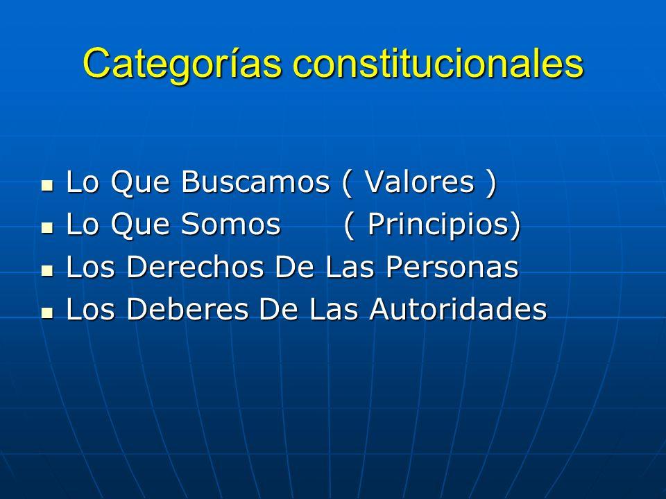 Categorías constitucionales