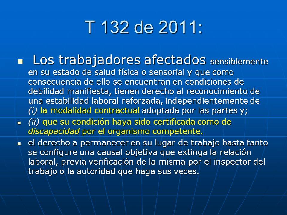 T 132 de 2011: