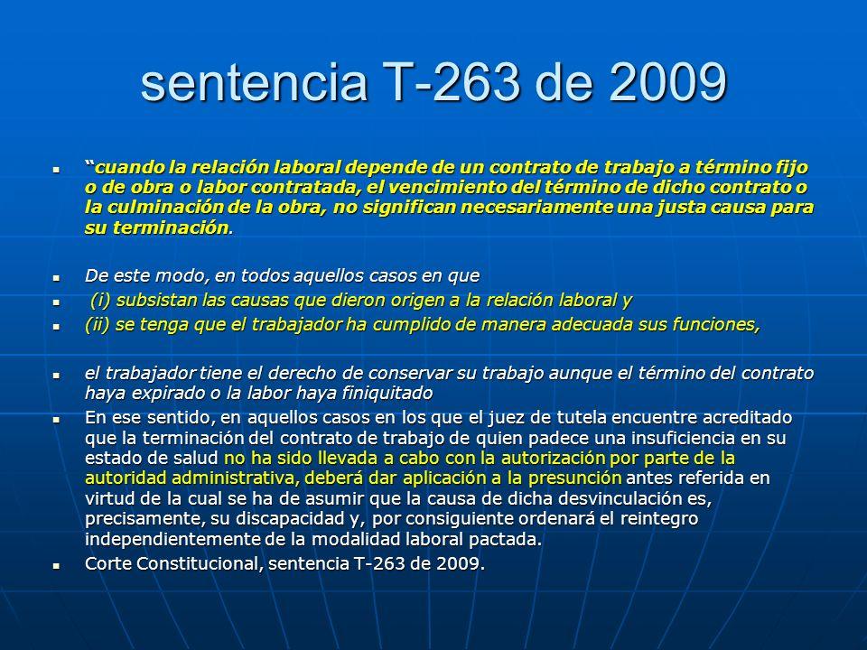 sentencia T-263 de 2009
