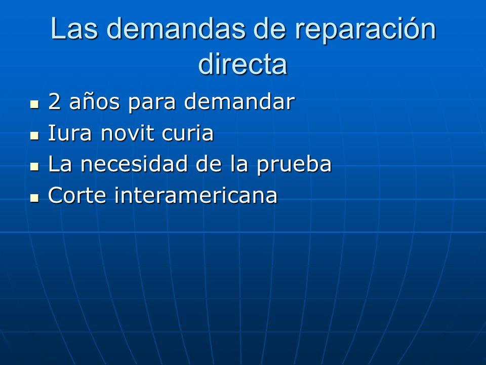 Las demandas de reparación directa