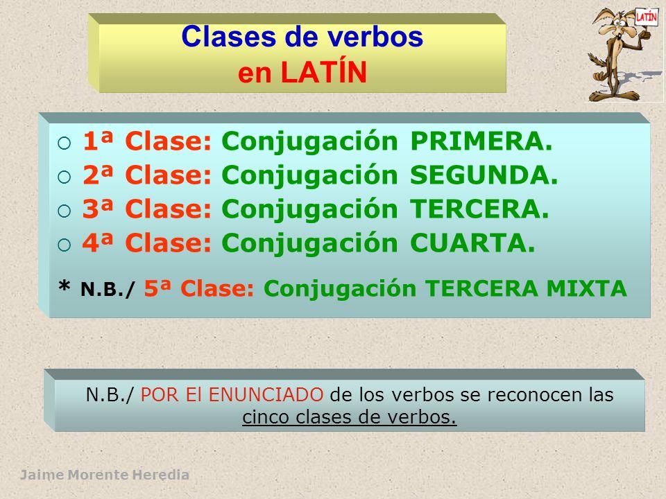 Clases de verbos en LATÍN