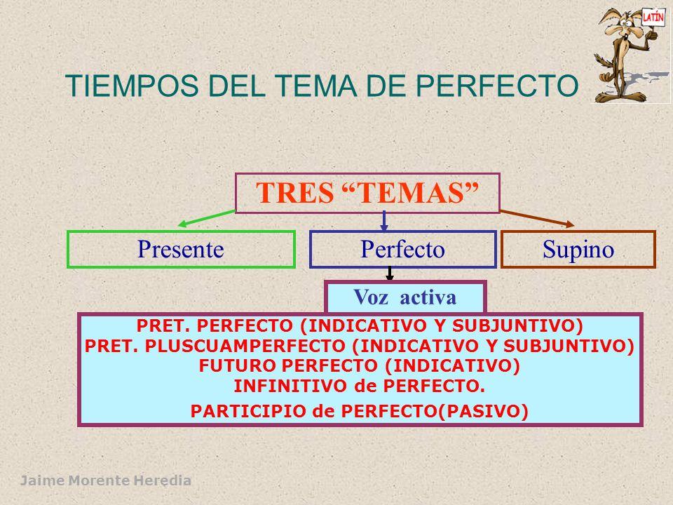 TIEMPOS DEL TEMA DE PERFECTO