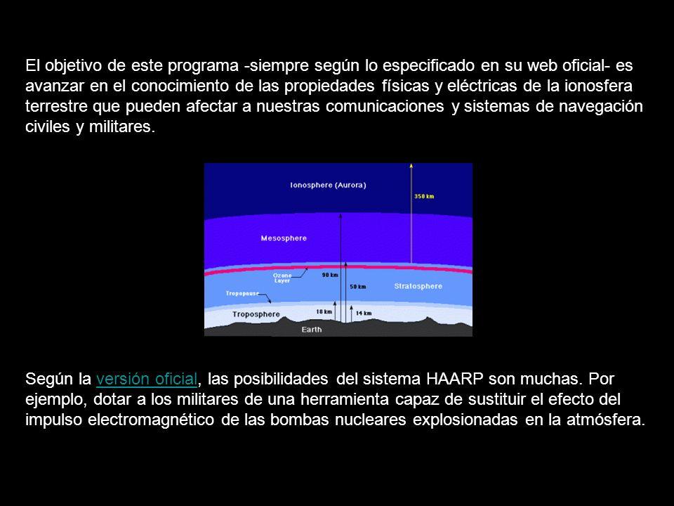 El objetivo de este programa -siempre según lo especificado en su web oficial- es avanzar en el conocimiento de las propiedades físicas y eléctricas de la ionosfera terrestre que pueden afectar a nuestras comunicaciones y sistemas de navegación civiles y militares.