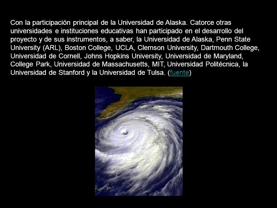 Con la participación principal de la Universidad de Alaska