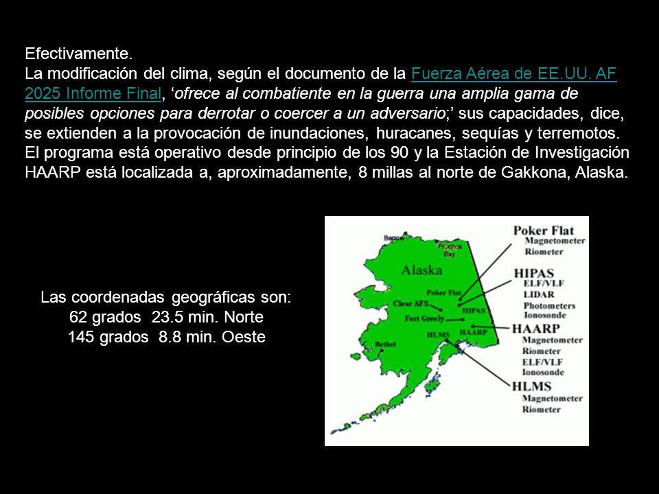 Las coordenadas geográficas son: